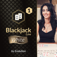 Blackjack White 1 by Evolution DK