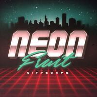 Neon Fruity Cityscape